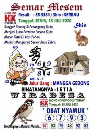 Syair Togel HK Selasa 14 juli 2020
